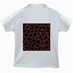 SKIN1 BLACK MARBLE & RUSTED METAL Kids White T-Shirts Back