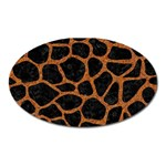 SKIN1 BLACK MARBLE & RUSTED METAL Oval Magnet