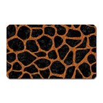 SKIN1 BLACK MARBLE & RUSTED METAL Magnet (Rectangular)