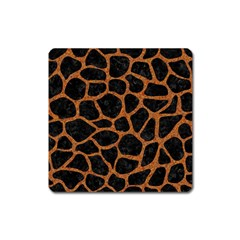 Skin1 Black Marble & Rusted Metal Square Magnet by trendistuff