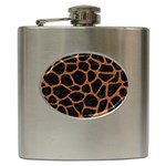 SKIN1 BLACK MARBLE & RUSTED METAL Hip Flask (6 oz)