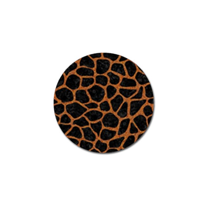 SKIN1 BLACK MARBLE & RUSTED METAL Golf Ball Marker