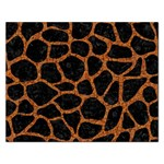 SKIN1 BLACK MARBLE & RUSTED METAL Rectangular Jigsaw Puzzl