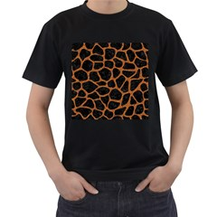 Skin1 Black Marble & Rusted Metal Men s T Shirt (black) (two Sided)