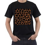 SKIN1 BLACK MARBLE & RUSTED METAL Men s T-Shirt (Black) (Two Sided)