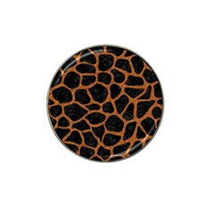 Skin1 Black Marble & Rusted Metal Hat Clip Ball Marker (4 Pack)