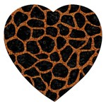 SKIN1 BLACK MARBLE & RUSTED METAL Jigsaw Puzzle (Heart) Front