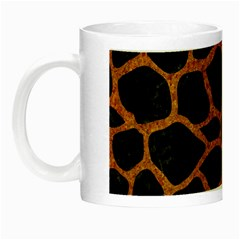 Skin1 Black Marble & Rusted Metal Night Luminous Mugs by trendistuff