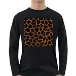 SKIN1 BLACK MARBLE & RUSTED METAL Long Sleeve Dark T-Shirts