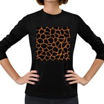 SKIN1 BLACK MARBLE & RUSTED METAL Women s Long Sleeve Dark T-Shirts