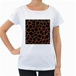 SKIN1 BLACK MARBLE & RUSTED METAL Women s Loose-Fit T-Shirt (White)