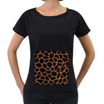 SKIN1 BLACK MARBLE & RUSTED METAL Women s Loose-Fit T-Shirt (Black)