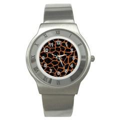 SKIN1 BLACK MARBLE & RUSTED METAL Stainless Steel Watch