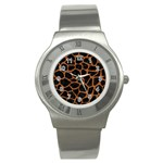 SKIN1 BLACK MARBLE & RUSTED METAL Stainless Steel Watch