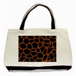 SKIN1 BLACK MARBLE & RUSTED METAL Basic Tote Bag