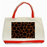 SKIN1 BLACK MARBLE & RUSTED METAL Classic Tote Bag (Red)