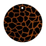 SKIN1 BLACK MARBLE & RUSTED METAL Round Ornament (Two Sides)