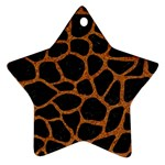 SKIN1 BLACK MARBLE & RUSTED METAL Star Ornament (Two Sides) Back