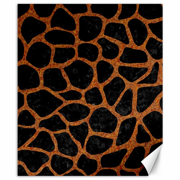 SKIN1 BLACK MARBLE & RUSTED METAL Canvas 8  x 10