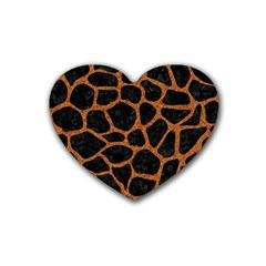 Skin1 Black Marble & Rusted Metal Heart Coaster (4 Pack)  by trendistuff