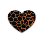 SKIN1 BLACK MARBLE & RUSTED METAL Heart Coaster (4 pack)