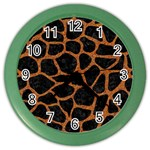 SKIN1 BLACK MARBLE & RUSTED METAL Color Wall Clocks