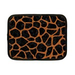 SKIN1 BLACK MARBLE & RUSTED METAL Netbook Case (Small)