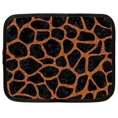 Skin1 Black Marble & Rusted Metal Netbook Case (large)