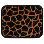 SKIN1 BLACK MARBLE & RUSTED METAL Netbook Case (Large)