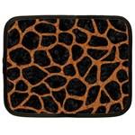 SKIN1 BLACK MARBLE & RUSTED METAL Netbook Case (Large) Front