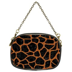 Skin1 Black Marble & Rusted Metal Chain Purses (two Sides)