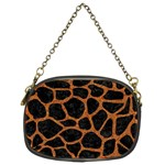 SKIN1 BLACK MARBLE & RUSTED METAL Chain Purses (Two Sides)  Front