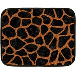 SKIN1 BLACK MARBLE & RUSTED METAL Fleece Blanket (Mini) 35 x27 Blanket