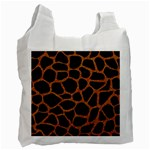SKIN1 BLACK MARBLE & RUSTED METAL Recycle Bag (Two Side)