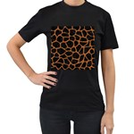 SKIN1 BLACK MARBLE & RUSTED METAL Women s T-Shirt (Black)