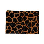 SKIN1 BLACK MARBLE & RUSTED METAL Cosmetic Bag (Large)