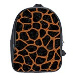 SKIN1 BLACK MARBLE & RUSTED METAL School Bag (Large)