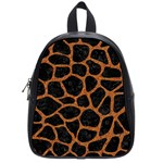 SKIN1 BLACK MARBLE & RUSTED METAL School Bag (Small)