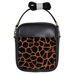 SKIN1 BLACK MARBLE & RUSTED METAL Girls Sling Bags