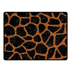 Skin1 Black Marble & Rusted Metal Fleece Blanket (small) by trendistuff