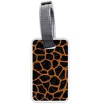 SKIN1 BLACK MARBLE & RUSTED METAL Luggage Tags (Two Sides) Back