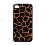 SKIN1 BLACK MARBLE & RUSTED METAL Apple iPhone 4 Case (Black)