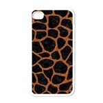 SKIN1 BLACK MARBLE & RUSTED METAL Apple iPhone 4 Case (White)