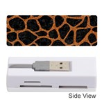 SKIN1 BLACK MARBLE & RUSTED METAL Memory Card Reader (Stick)