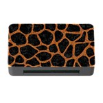SKIN1 BLACK MARBLE & RUSTED METAL Memory Card Reader with CF