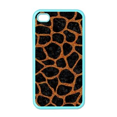 Skin1 Black Marble & Rusted Metal Apple Iphone 4 Case (color)