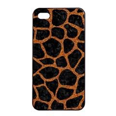 Skin1 Black Marble & Rusted Metal Apple Iphone 4/4s Seamless Case (black)