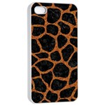 SKIN1 BLACK MARBLE & RUSTED METAL Apple iPhone 4/4s Seamless Case (White)