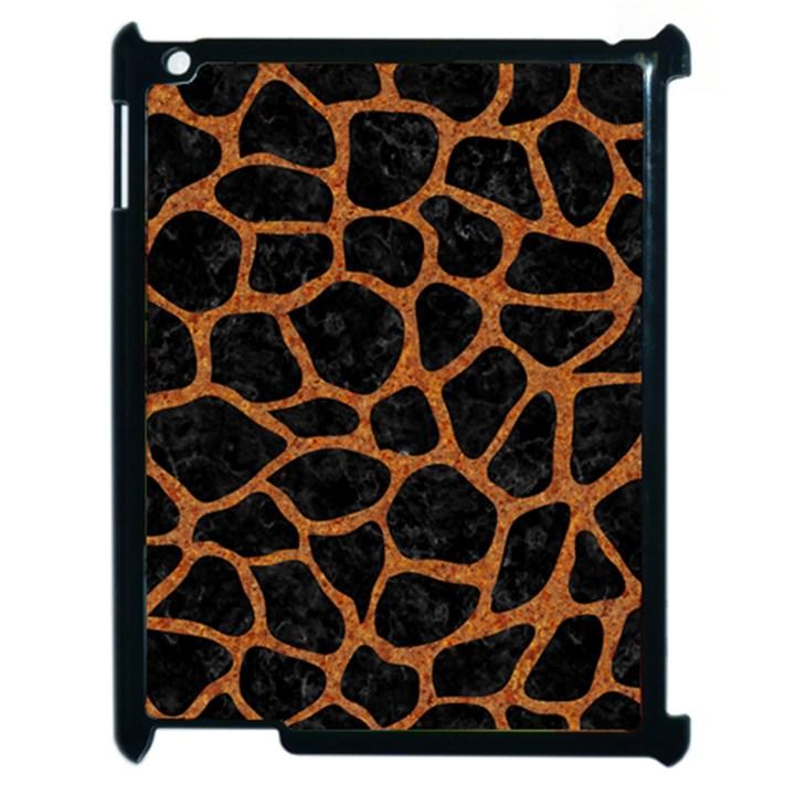 SKIN1 BLACK MARBLE & RUSTED METAL Apple iPad 2 Case (Black)