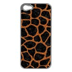 SKIN1 BLACK MARBLE & RUSTED METAL Apple iPhone 5 Case (Silver)